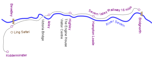 Severn Valley Railway Route and Stations